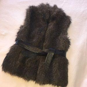 Cynthia Rowley faux fur vest